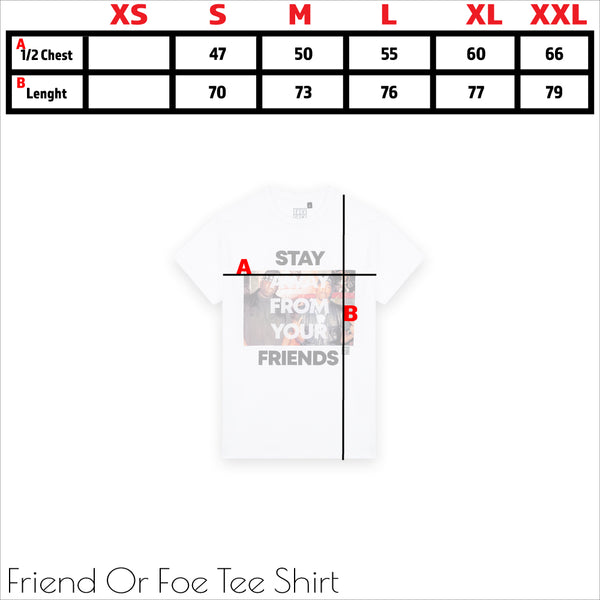 size chart - tshirt - tee shirt - forverycoolkids - fvck