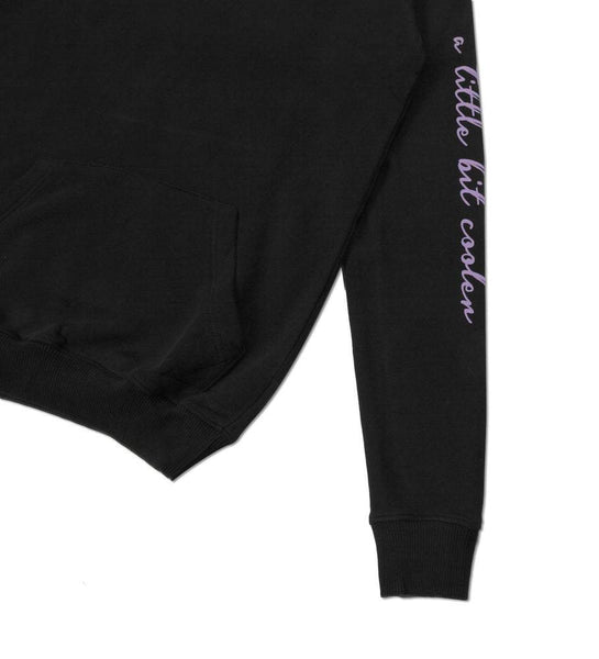 Hoodie AL Cooler Black Purple - ForVeryCoolKids logo hooded