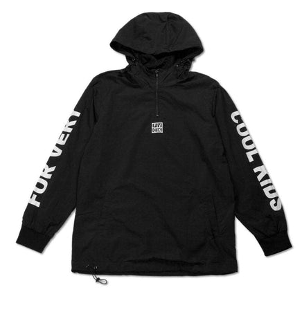 black rain jacket forverycoolkids pullover fvck