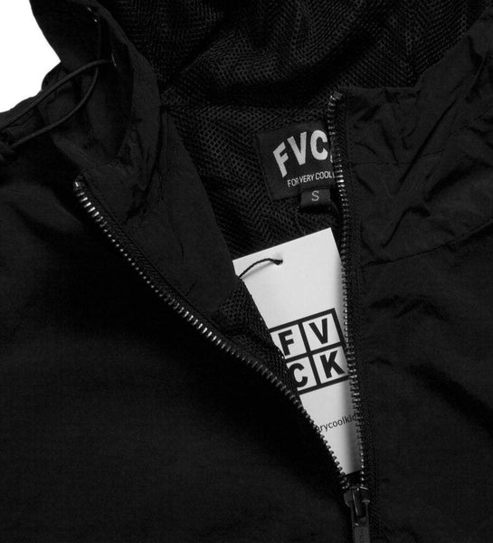 black rain jacket forverycoolkids pullover fvck walkinparis
