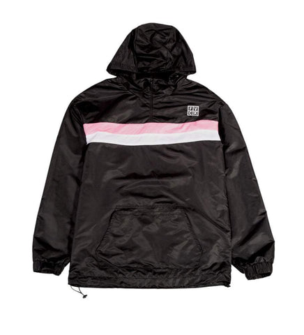 STRIPE PULLOVER JACKET BLACK - ForVeryCoolKids streetwear pink fvck Parisian