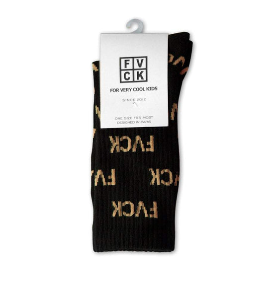 chaussettes - imprimées - socks allover - FVCK - for very cool kids