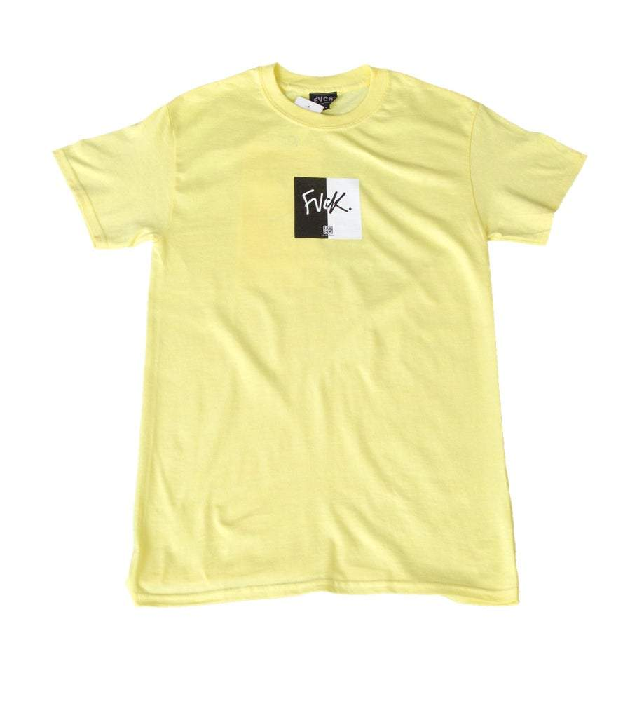 Split Tee Yellow Skate - ForVeryCoolKids t-shirt skateboard - skate shop - streetwear - lifestyle - citadium - second chapter