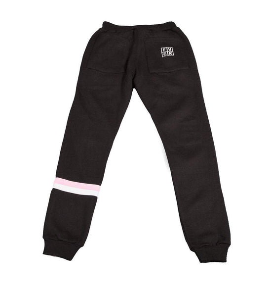 STRIPE SWEATPANT BLK - ForVeryCoolKids