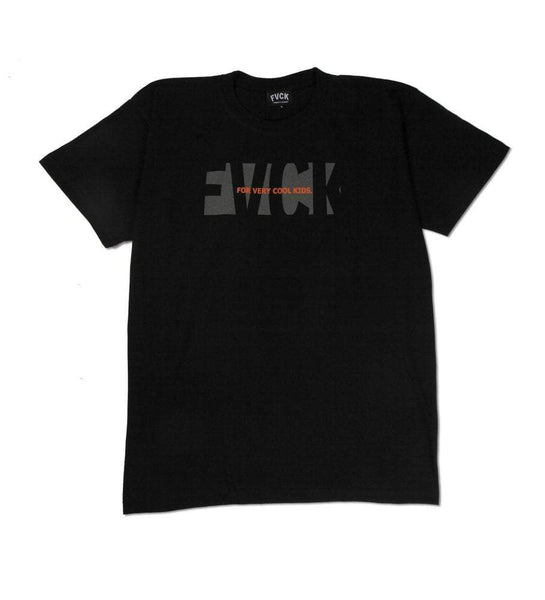 Subtle Tee Black Orange skate skate shop streetwear lifestyle noir été