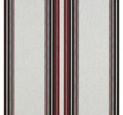 "Burgundy/Black/White Stripe-15.3"" Repeat"