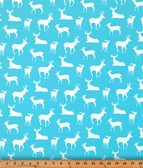 Twill-Deer Silhouette Girly Blue