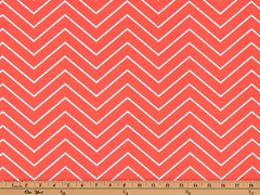 Chevron Indian Coral-100% Polyester