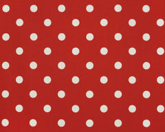 Polka Dot American Red-100% Polyester