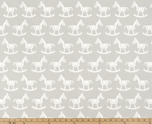 Twill-Rocking Horse French Gray/White