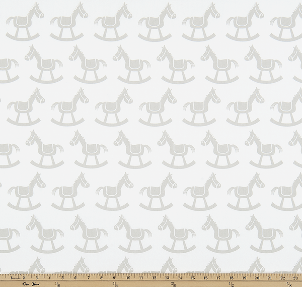 Twill-Rocking Horse White/French Gray