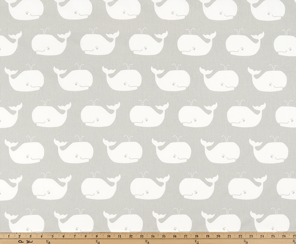 Twill-Whale Tales French Gray/White