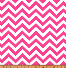 Twill-Zigzag Candy Pink/White