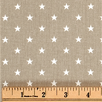 Twill-Mini Star Gunmetal Tan/White