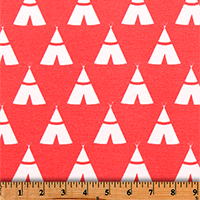 Tee Pee Indian Coral-100% Polyester