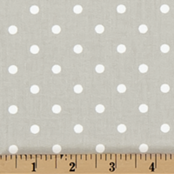 Twill-Mini Dot Snowy Gray/White