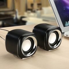 Usb Bedrade Computer Speakers Roze Groen Bass Mini Subwoofer Speaker Voor Laptop Desktop Telefoon Luidspreker