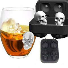 Siliconen 3D Schedel Vorm Ijsblokjedienbladen Mal Mal Cocktails Whisky Maker Ice Tray Kitchen Tools