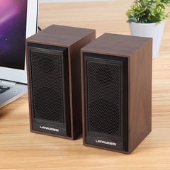 Houten Computer Speakers Natuurlijke Hout Behuizing Desktop Speaker Usb Aangedreven Surround Laptop Speaker Hout Multimedia Luidsprekers