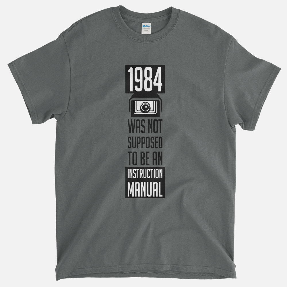 On Sale - 1984 Instruction Manual T-Shirt - (Dark Grey, Small)
