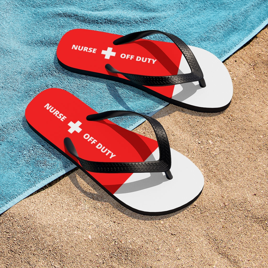 """Nurse Off Duty"" Flip Flops"