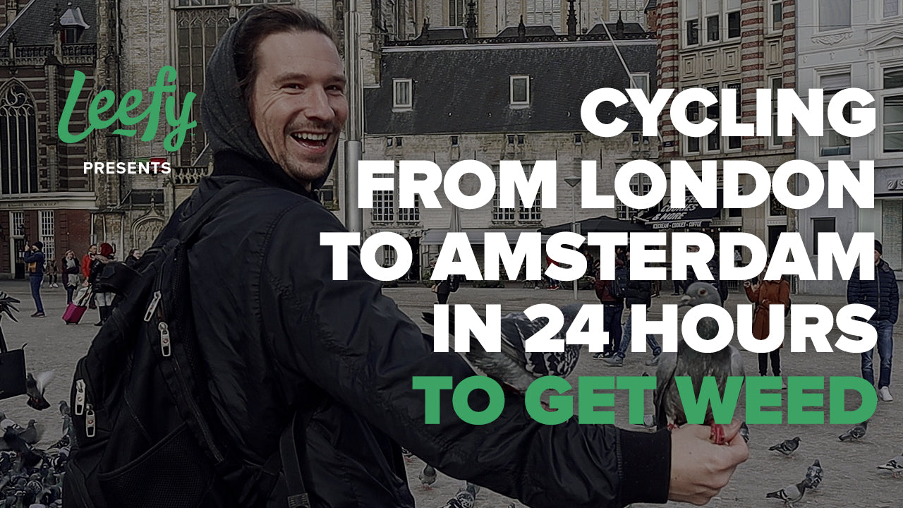 Cycling from London to Amsterdam in 24hrs to get Weed! (High & Polite)