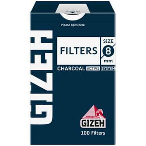 Gizeh charcoal filter uk 8mm smoking cannabis weed hemp cbd head shop easy rolling