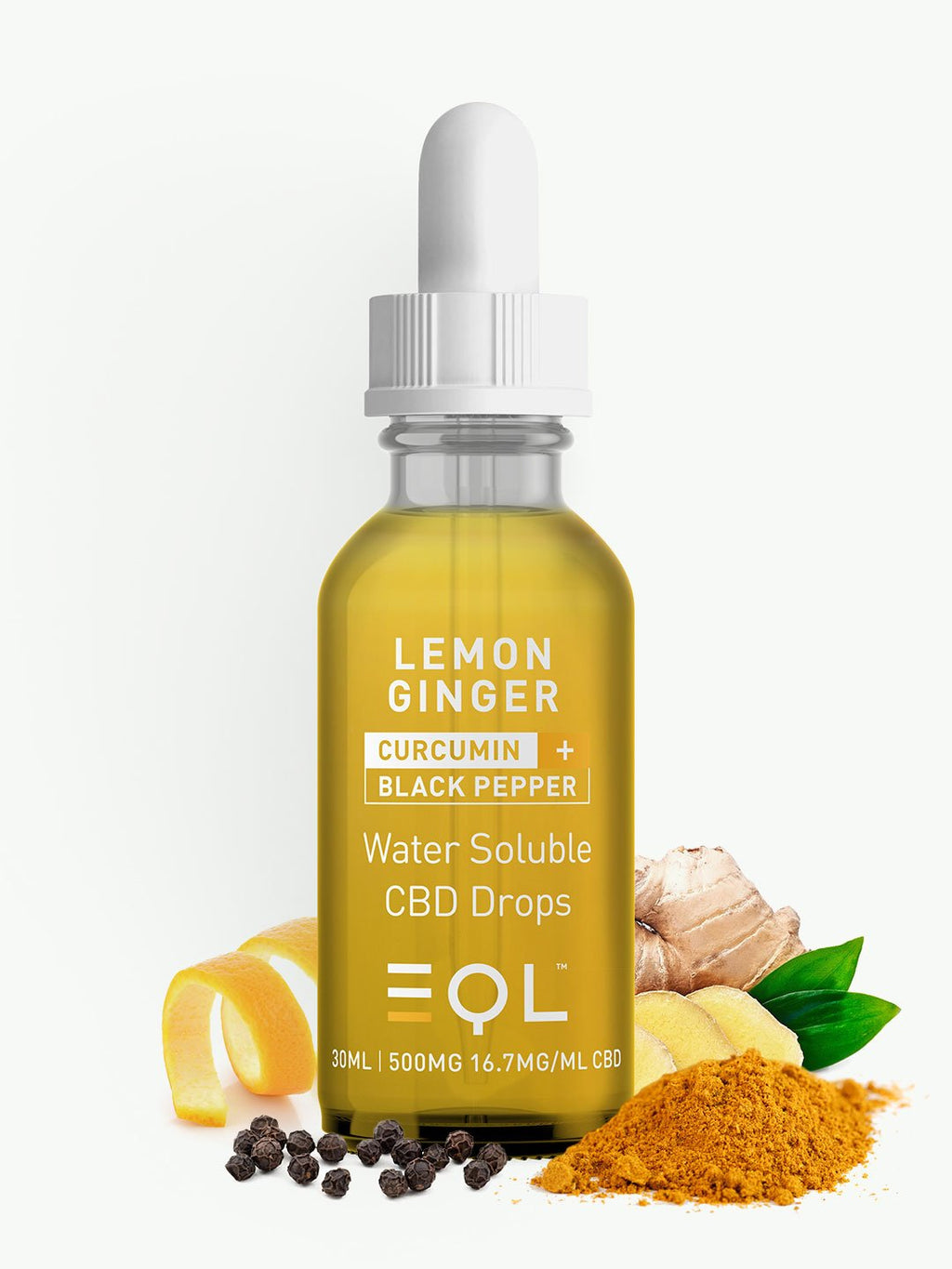 500mg CBD Water Soluble|Black Pepper, Curcumin, Lemon & Ginger