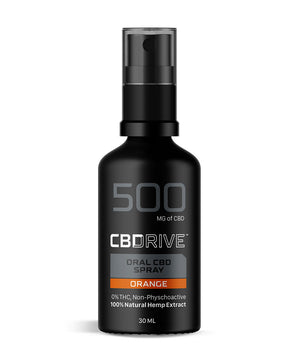 500mg CBD Oil Spray UK | Orange flavour | Sports Range