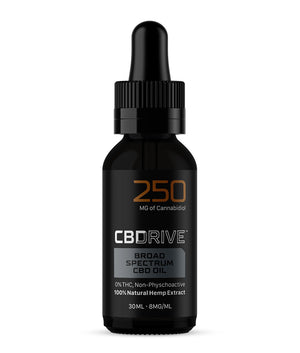 250mg Broad Spectrum CBD Oil UK | Sports Range