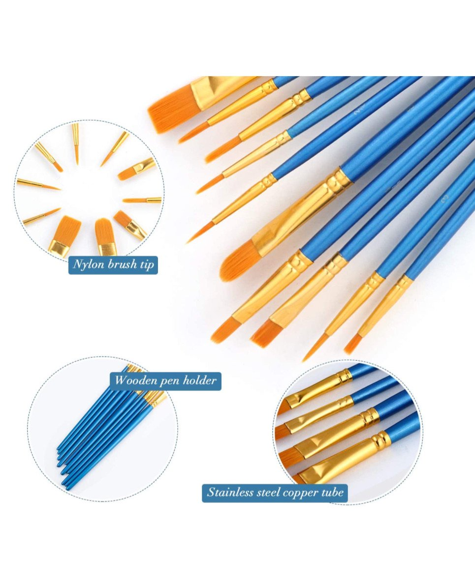 Nylon paint brush set