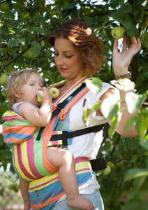 You added Lenny Lamb Ergonomic Carrier - Baby Size - Broken Twill weave - 60% cotton 40% bamboo - PINACOLADA to your cart.