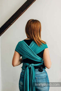 You added LennyLamb - Hybrid Half Buckle Carrier, Standard Size, herringbone weave 100% cotton - LITTLE HERRINGBONE OMBRE TEAL to your cart.