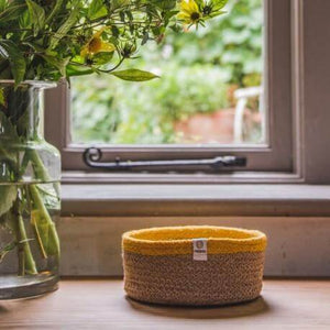 You added ReSpiin Shallow Jute Basket - Small - Natural/Yellow to your cart.