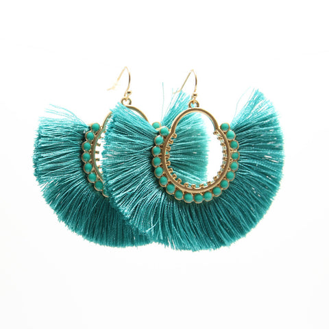 MAMBO FRINGE HOOP EARRINGS
