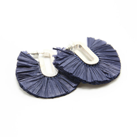 JULIA RAFFIA FAN-C EARRINGS