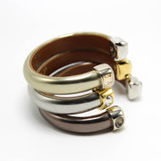 OLYMPIC SERIES - Silver Leather Cuff Bracelet