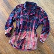 DISTRESSED OMBRE DIP DYED FLANNEL SHIRTS by The Whiskey Wrangler
