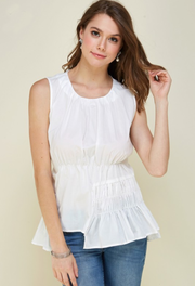 CUTE FROM EVERY ANGLE RUCHED TANK