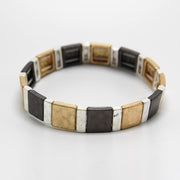 MIXED METALS TILE BRACELET