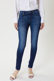 MID RISE BASIC SUPER SKINNY DENIM JEANS by KAN CAN USA