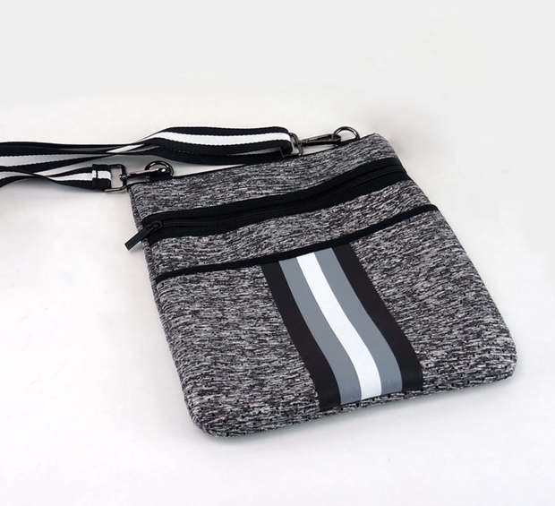 ON THE GO SLIM CROSSBODY - HEATHER GREY