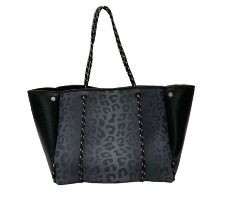 ON THE GO TOTE - GREY LEOPARD