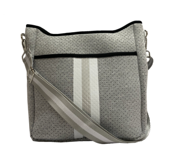 ON THE GO CROSSBODY - HEATHER GREY