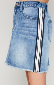 GIRL'S SIDE STRIPE DENIM SKIRT