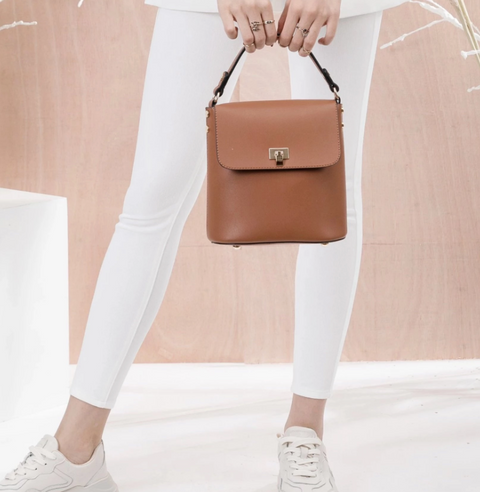 REMY Crossbody - Saddle Brown Vegan Leather