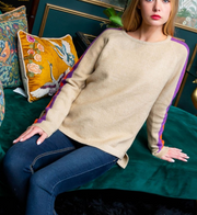 IT'S ALL ABOUT ME SWEATER - Beige
