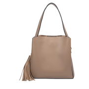 GENEVIEVE Crossbody Bag - Brown Vegan Leather