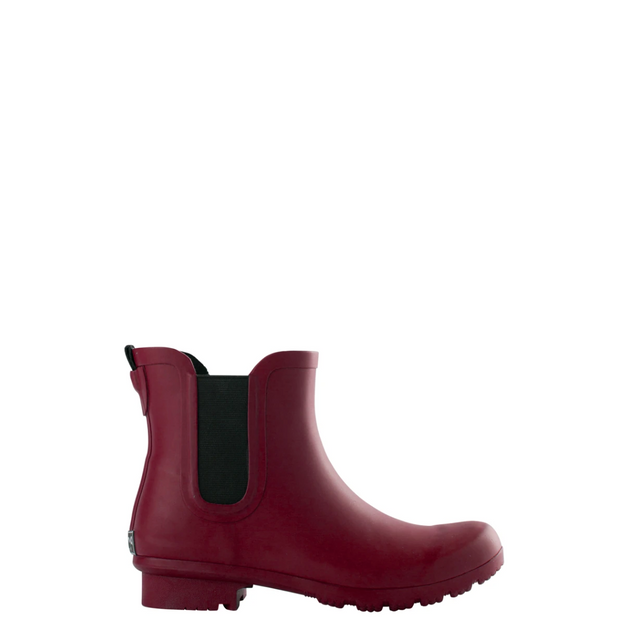 CHELSEA MATTE MAROON WOMEN'S RAIN BOOTS by Roma Boots