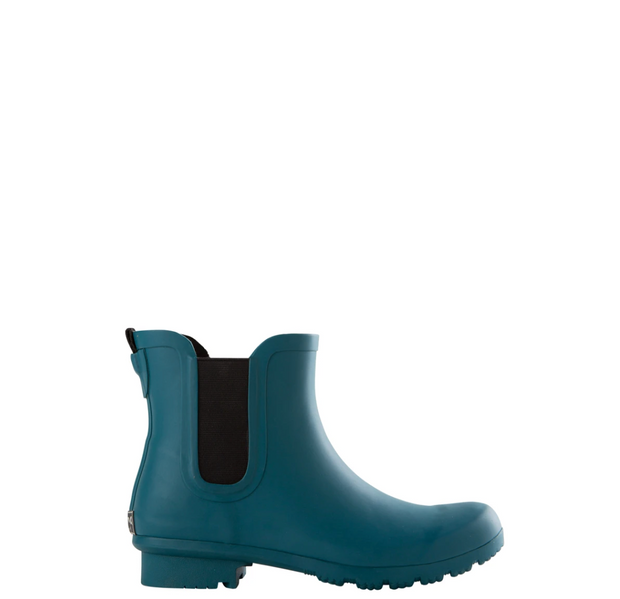 CHELSEA MATTE TEAL WOMEN'S RAIN BOOTS by Roma Boots